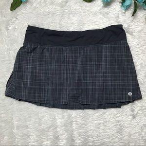 Lululemon Gray Plaid Sport Skirt